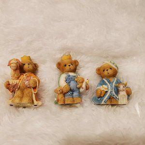 Cherished Teddies Wisemen Minature Nativity Set